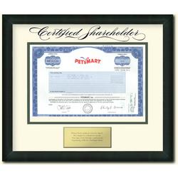 One Framed Share of PetsMart Stock