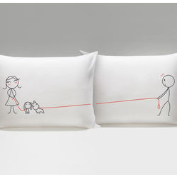 We Belong Together His & Hers Matching Couple Pillowcases
