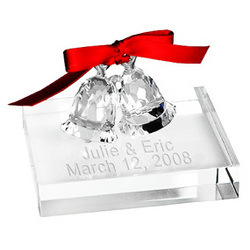 Crystal Wedding Bells with Stand