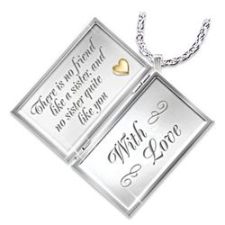 Dear Sister Letter of Love Sterling Silver Locket Necklace
