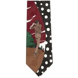 Golf Swing Polka Dot Silk Neck Tie