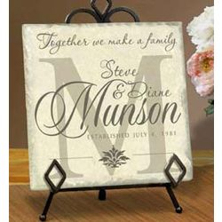 Personalized Block Monogram Name Plaque