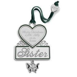 Sister Christmas Ornament
