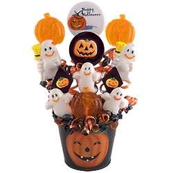 Jack-O-Lantern Lollipop Bouquet