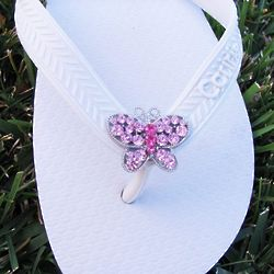 Flip Flop Interchangeable Butterfly Charm