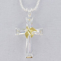Cross Pendant with Dove of Peace