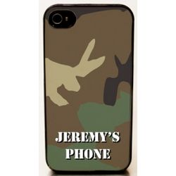 Personalized iPhone Green Camo 4 Case