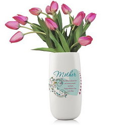 Mother's Personalized Porcelain Flower Vase