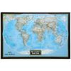 Personalized Framed World Map on Canvas