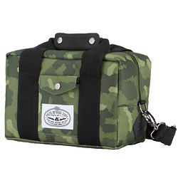 Green Furry Camo Camera Bag and Cooler