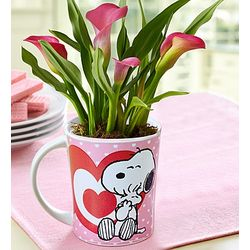 Peanuts Snoopy Love Mug with Calla Lily