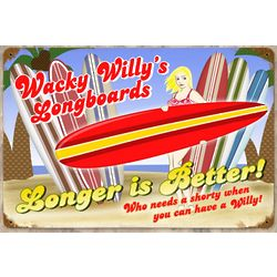 Large Willy's Longboards Sign
