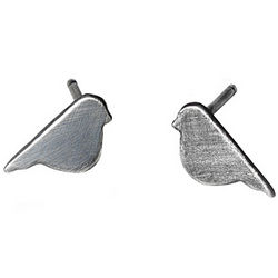 Sterling Silver Baby Bird Earrings