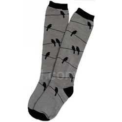 Birds on a Wire Knee Socks