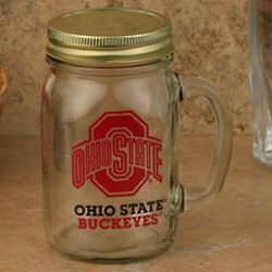 Ohio State Buckeyes Lidded Mason Jar