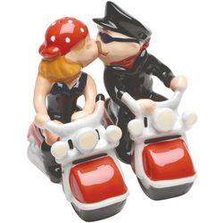 Kissing Bikers Salt and Pepper Shakers