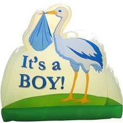 It's a Boy Inflatable Outdoor Lawn Birth Announcement