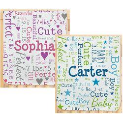 Personalized Baby Word Art Throw Blanket Findgift Com