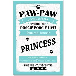 Personalized Doggie Boogie Dance 8x12 Sign