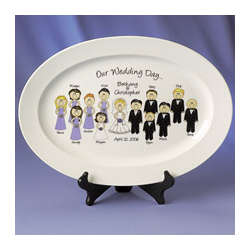 Our Wedding Day Character Platter
