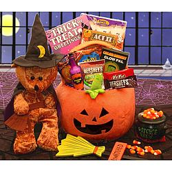 Bewitching Halloween Bear Treats Gift Basket