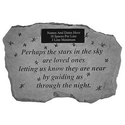 Personalized Perhaps the Stars in the Sky Memorial Stone