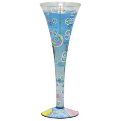 Bubble Bath Champagne Glass Candle
