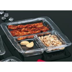 3 Compartment Glass Tray