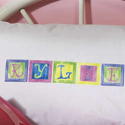 Personalized Pastel Alphabet Pillowcase