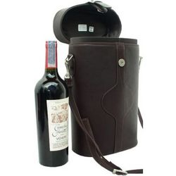 Leather Double Wine Carrier with Strap