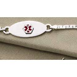 Sterling Silver Medical ID Bracelet