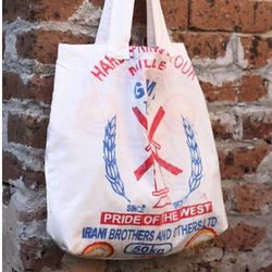 Recycled Flour Sack Tote