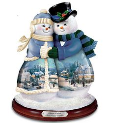 "Thomas Kinkade ""Snow Happy Together"" Musical Figurine"