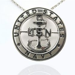 Sterling Silver US Navy Pendant