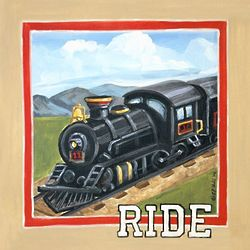 Baby's Vintage Train Ride Wall Art