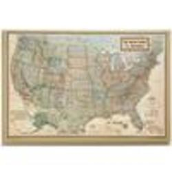 Personalized Executive United States Canvas Map