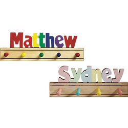 Personalized Kid's Puzzle Name Coat Rack