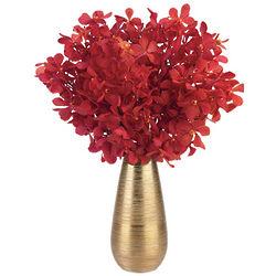 Valentine's Day Orchids in Gold Metallic Vase