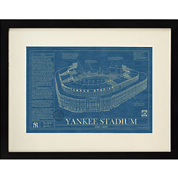 Large Framed MLB Ballpark Blueprint