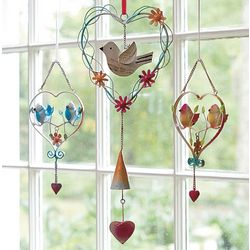 Love Bird Heart Ornaments