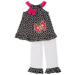 Toddler Girl's Butterfly Legging Set