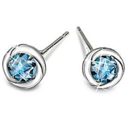 Reach For The Stars Sterling Silver Blue Topaz Earrings