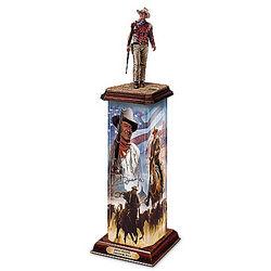 John Wayne: An American Hero Illuminated Statement Sculpture