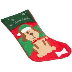Dog Felt Christmas Stocking