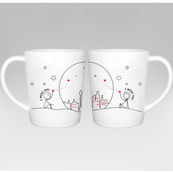 Miss Us Together Couple Mugs