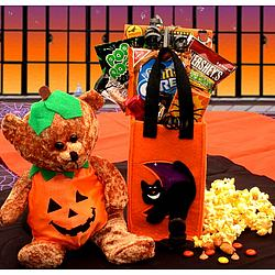 Pumpkin Patch Beary Halloween Surprise Gift Basket