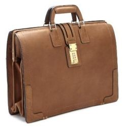 Classic Lawyer Leather Briefcase