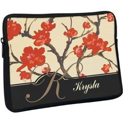 Personalized Blossoms Laptop Sleeve