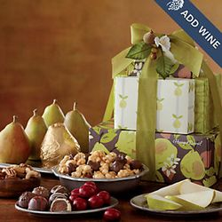 All-Occasion Tower of Treats with Pears Gift Tower