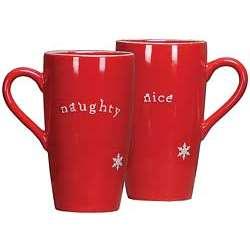 Naughty and Nice Christmas Mug